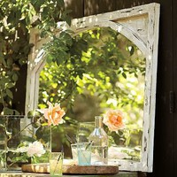 Rustic Arched Mirror | Pottery Barn