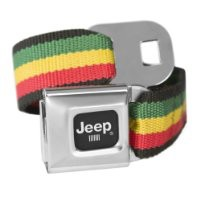 Rasta Jeep Seatbelt Buckle Fashion Belt - Officially Licensed