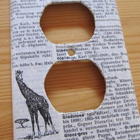 vintage GERMAN dictionary GIRAFFE / GIRAFFE by TackledAndShackled