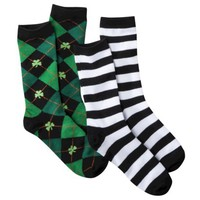 Xhilaration® Juniors Saint Patrick's Day 2-Pack Crew Socks - Assorted Colors/Patterns