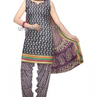 PR2322-Unstitched purple and cream handloom narayanpet cotton salwar kameez
