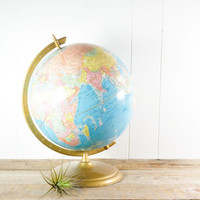 "Vintage World Globe // Cram 12"" Scope O Sphere"