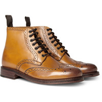 Grenson - Sharp Leather Brogue Boots | MR PORTER
