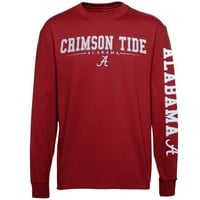 Alabama Crimson Tide Team Standard Long Sleeve T-Shirt - Crimson