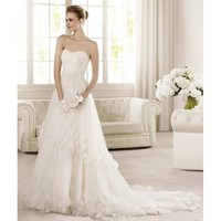 Amazing Sweep A-line Sweetheart Neckline Wedding Dress