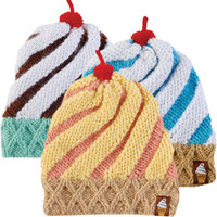 TWIRLY ICE CREAM CONE BEANIE