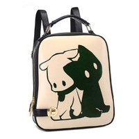 Dog Print Backpack Travel School Shoulder Bag Tote Purse