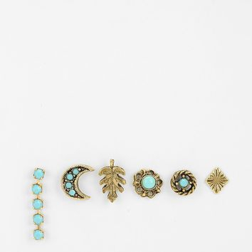 Dreamy Mix + Match Earring Set- Turquoise One