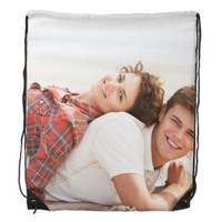 Personalized custom photo drawstring backpack bag