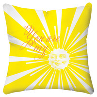 Sunshine 18x18 Pillow, Yellow