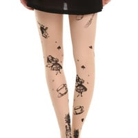 LOVEsick Sheer Storybook Alice In Wonderland Tights