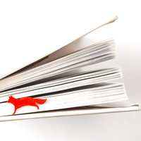 Bookmark Running fox laser cut metal powder coated.Stylish gift for book lover.Free shipping.
