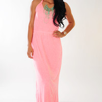 Close To You Dress: Neon Pink