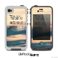 The Pastel Sunset- YOU CAN'T FLY UNLESS YOU LET YOURSELF FALL - Skin for the iPhone 5/5s - 4/4s or 5c LifeProof Case