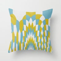 Honey Arches Yellow Throw Pillow by Project M