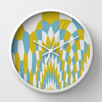 Honey Arches Yellow Wall Clock by Project M
