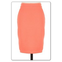 Peach Textured Skirt