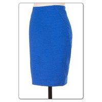 Royal Blue Textured Skirt