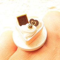Miniature Food Ring Candy Vanilla Ice Cream by SouZouCreations