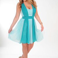 MINUET: Gracefully Yours Dress: Jade/Baby Blue | Hope's