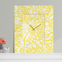 Lisa Argyropoulos Daisy Daisy In Golden Sunshine Rectangular Clock