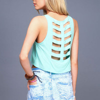 CAGE CUT OUT CROP TOP