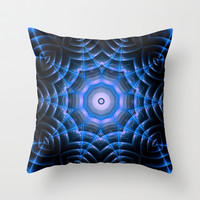 Blue Kalidestar Reactor Throw Pillow by 319media