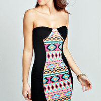 Jackie Aztec Panel Bodycon Dress