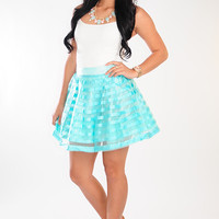All That Shimmers Skirt: Mint