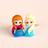 Anna and Elsa from Frozen, earrings inspired by Disney movie Frozen