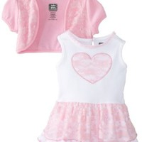 Baby Glam Baby-Girls Newborn 2 Piece Dress Set with Shrug