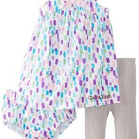 Calvin Klein Baby-Girls Infant Printed Dress with Panty
