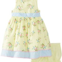 Laura Ashley London Baby-Girls Infant Yellow Floral Dress
