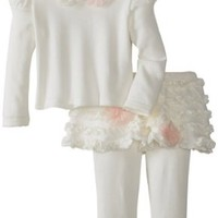 Biscotti Baby-Girls Newborn Pom Pom Petals Long Sleeve Top and Tutu Legging