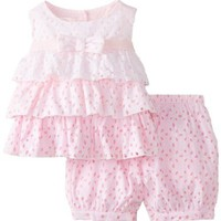 Biscotti Baby-Girls Infant Eyelet Blush Top and Bloomer Set