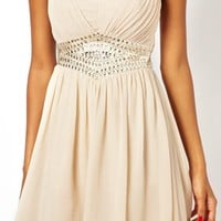 Little Mistress Bandeau Evening Dress With Embellishment