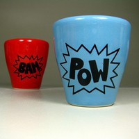 5oz tumbler POW dodger blue Made to Order / Pick by CircaCeramics
