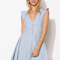 FAMILY AFFAIRS Legends Chambray Fit & Flare Dress - Urban Outfitters