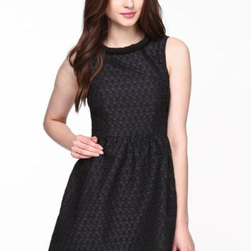 TEXTURED BAROQUE SKATER DRESS