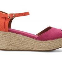 Pink Mix Vegan Women's Platform Wedges