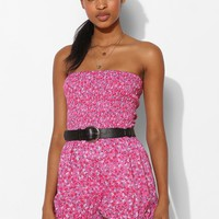Pins And Needles Smocked Strapless Bloomer Romper - Urban Outfitters