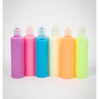 Glow in the Dark Colored Paint 6 Pk