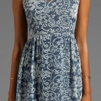 DV by Dolce Vita Eniko Lace Print Dress in Blue Print from REVOLVEclothing.com