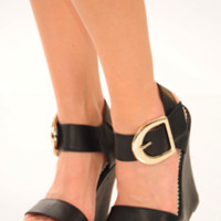 Live It Up Wedges: Black | Hope's