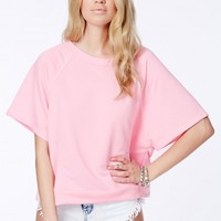 Missguided - Inga Trapeze Sweatshirt In Baby Pink