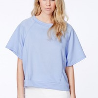 Missguided - Inga Trapeze Sweatshirt In Blue