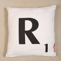 R Scrabble Cushion - Urban Outfitters