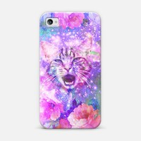 Girly Kitten Cat Romantic Floral Pink Nebula Space iPhone 5s case by Girly Trend | Design your own iPhonecase and Samsungcase