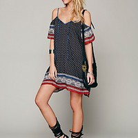 Free People Womens Printed Cold Shoulder