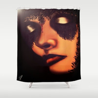 Bang Bang Shower Curtain by    Amy Anderson